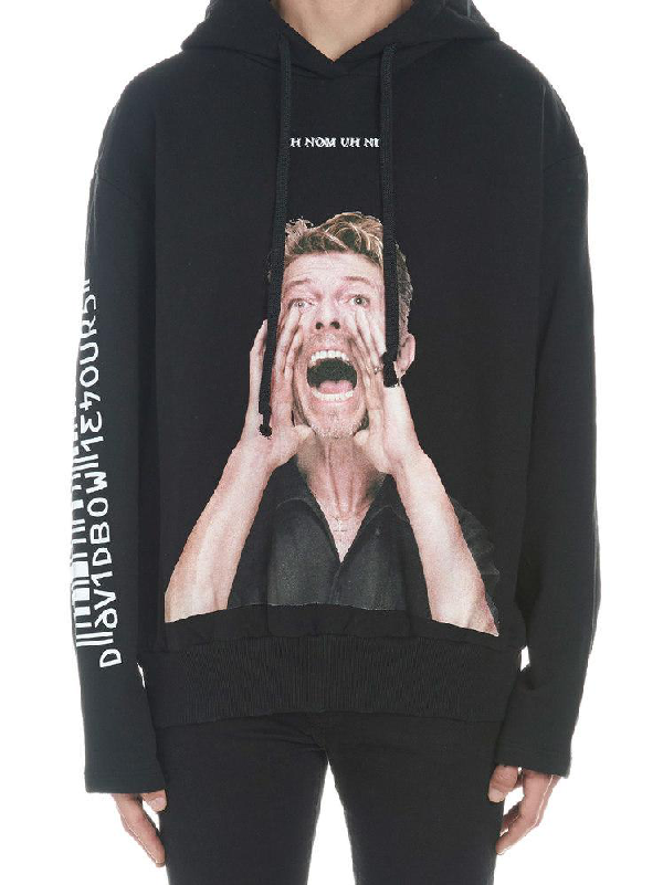 Ih Nom Uh Nit Bowie Scream Printed Sweater In Black