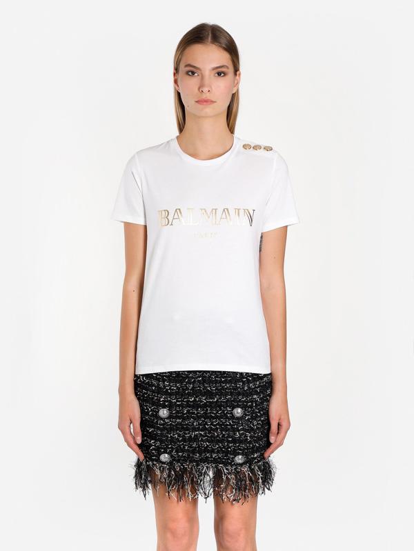 Balmain T Shirts In White