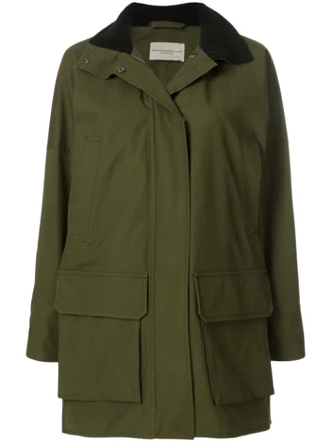 Holland & Holland Hooded Military Coat In Green