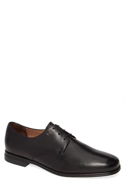 Salvatore Ferragamo Men's Spencer Plain-Toe Leather Oxfords In Nero