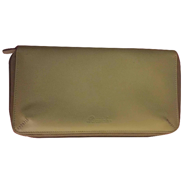 Pineider Green Leather Wallet