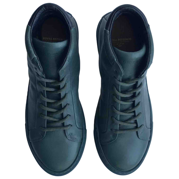 Pre-owned Royal Republiq Green Leather Trainers