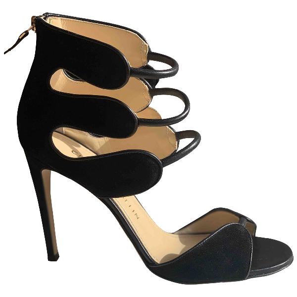 Chloe Gosselin Black Suede Sandals
