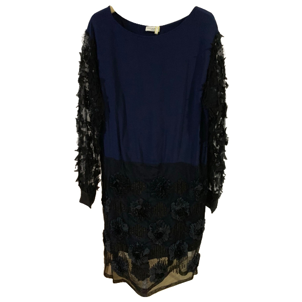 Dries Van Noten Black Silk Dress