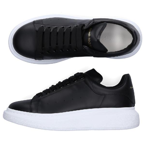 Alexander Mcqueen Leather Sneakers Larry In Black