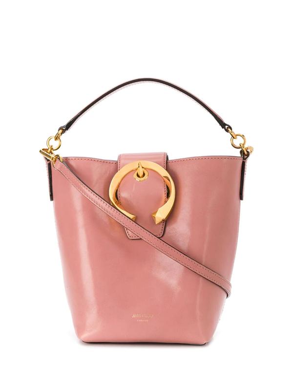Jimmy Choo Madeline Bucket Bag In Pink