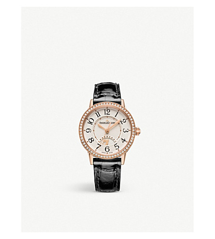 Jaeger-lecoultre Q3578430 Rendez-vous Stainless Steel, Diamond And Leather Watch In Silver