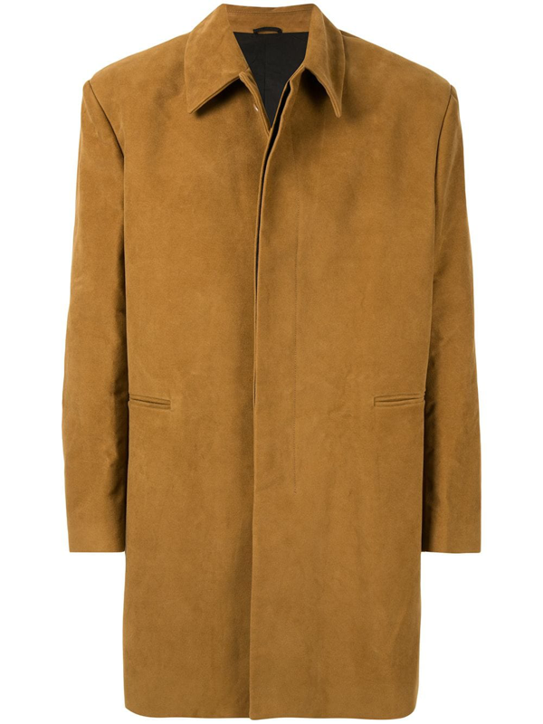 Raf Simons Painting Patch Coat In Brown