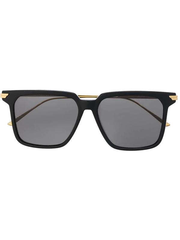 Bottega Veneta Bv1006s Square-frame Sunglasses In Black