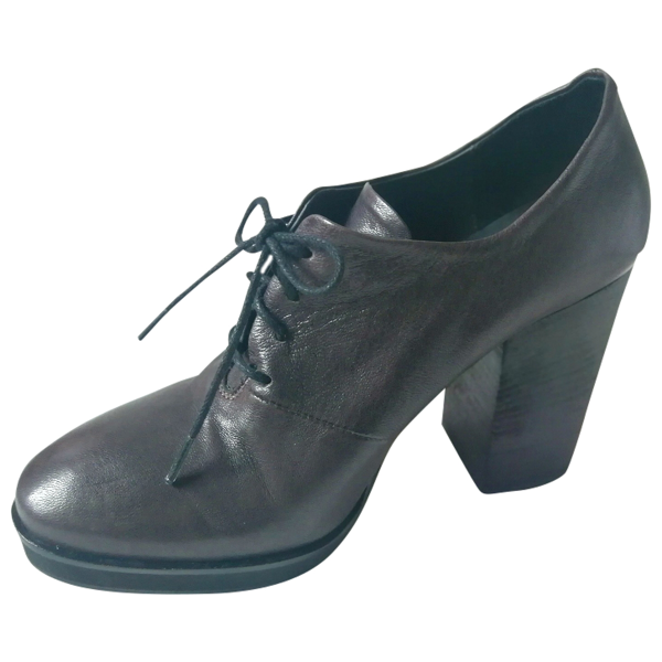 Fiorifrancesi Grey Leather Ankle Boots
