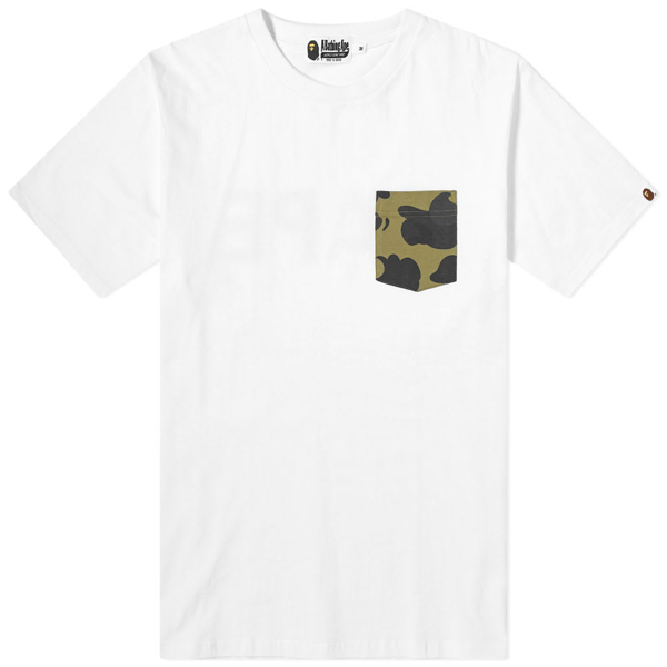 A Bathing Ape Relaxed Bape Pocket Tee In White