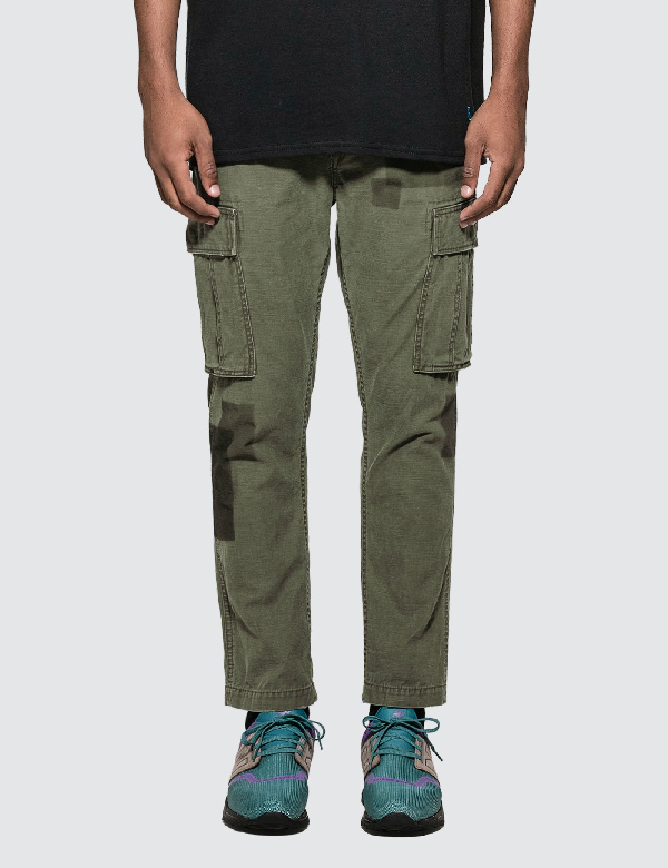 Vanquish Remake Tapered Cargo Pants In Green