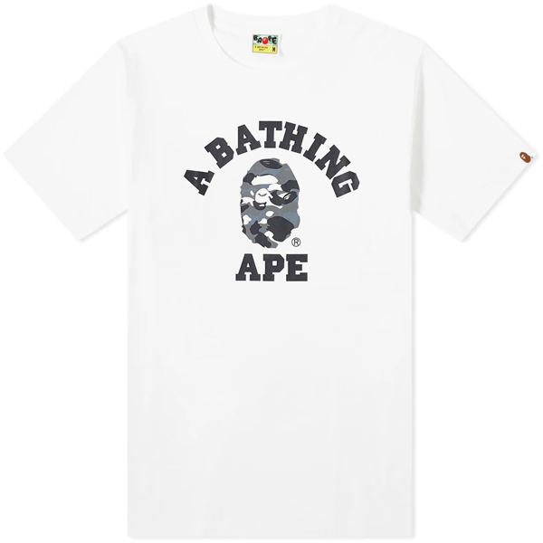 A Bathing Ape City Camo College Tee In White