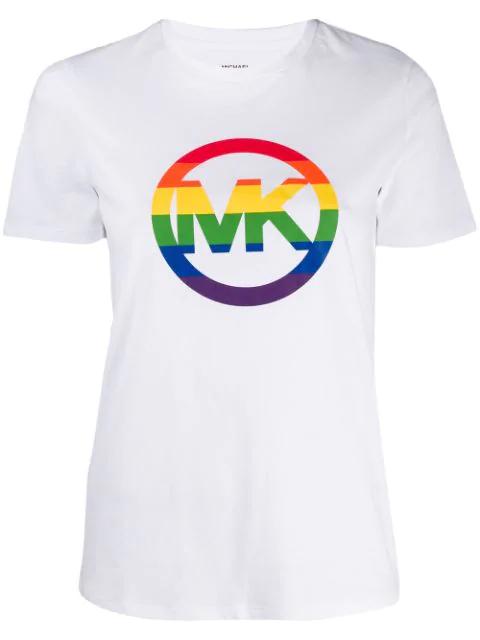 Michael Michael Kors Michael Kors - T-shirt Logo Rainbow - White