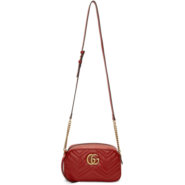 Gucci Women's Gg Marmont Leather Super Mini Bag In 6433 Hibisc