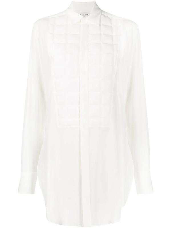 Bottega Veneta Square-quilted Formal Shirt In White