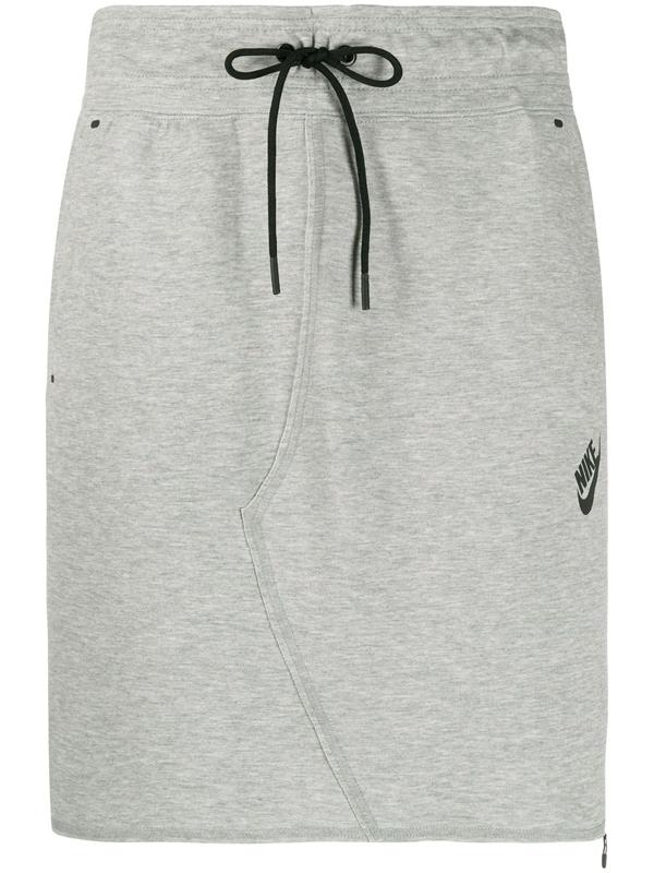 Nike Sportswear Tech Fleece Women S Skirt In Grey Modesens