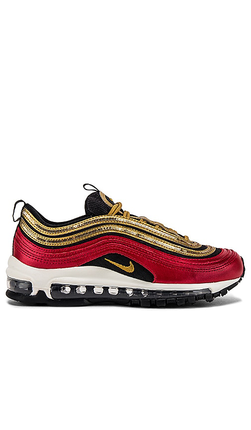 Nike Air Max 97 Icon Clash Women's Shoe (university Red) - Clearance Sale In Red/ Metallic Gold/ Black