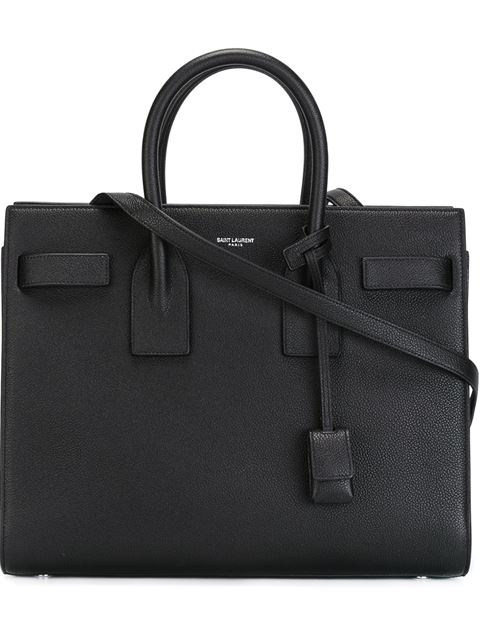 Saint Laurent Baby Sac De Jour Calfskin Tote - Black In Noir
