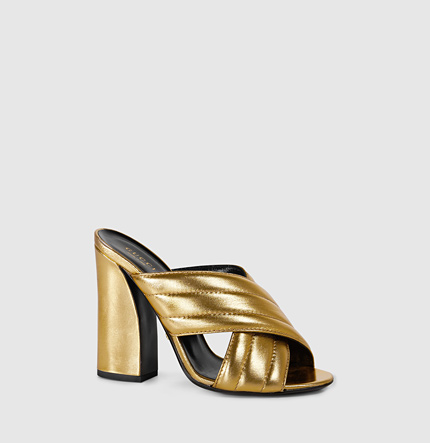 a34cf8928be Gucci 110Mm Sylvia Metallic Leather Sandals