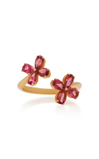 Misahara Plima Lilly 18k Rose Gold And Tourmaline Ring In Pink