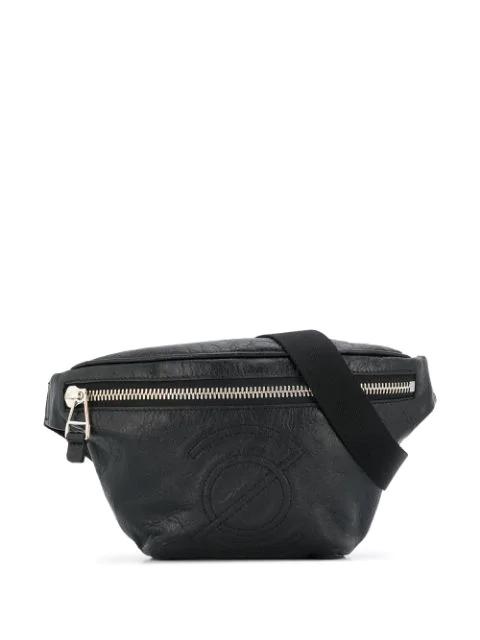 Zanellato Lustro Leather Belt Bag In Black