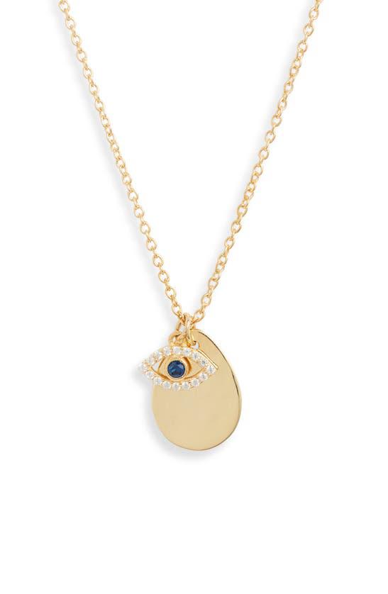 Argento Vivo Evil Eye Charm Cluster Necklace In Gold