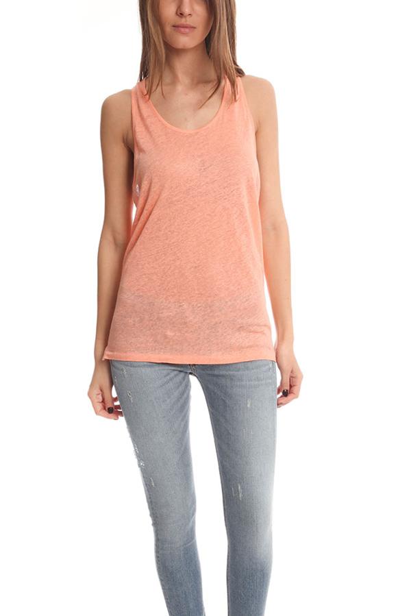 Acne Studios Women's Acne Belief Linen Tank Top In Orange
