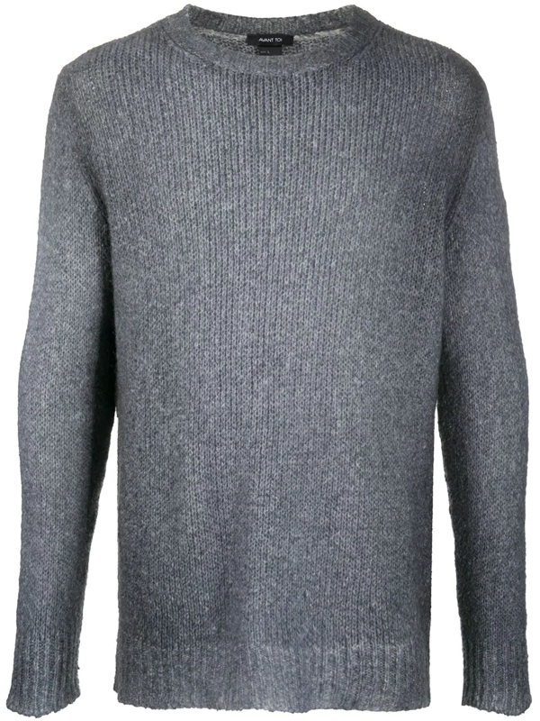 Avant Toi Ribbed Knit Jumper In Blue
