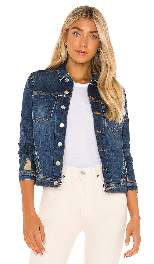 L Agence Women's L'agence Celine Slim Jacket In Authentique Distressed