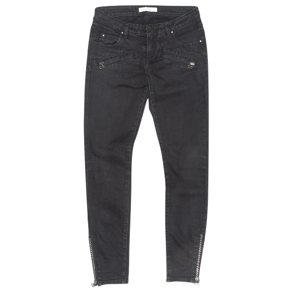 Pierre Balmain Black Cotton - Elasthane Jeans