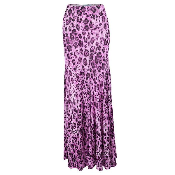 Blumarine Pink Animal Print Maxi Skirt S