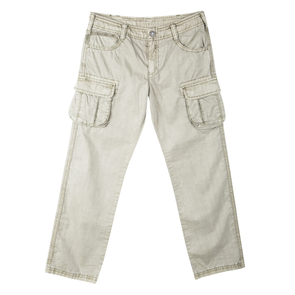 Pre-owned Armani Junior Beige Cold Pigment Overdyed Cotton Cargo Pants 8yrs