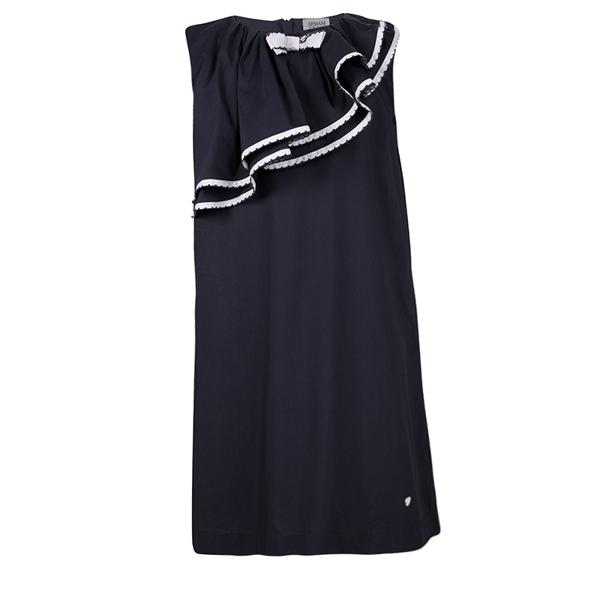 Armani Junior Navy Blue Ruffle Detail Sleeveless Dress 8yrs