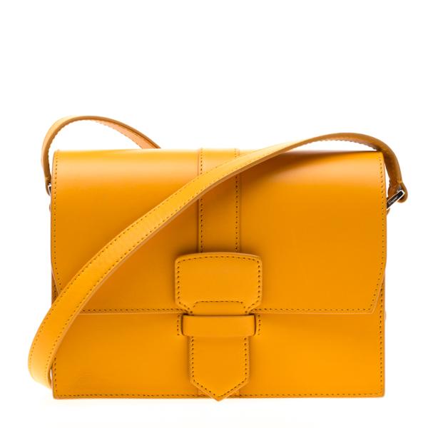Pre-owned Salvatore Ferragamo Mustard Leather Altea Box Crossbody Bag In Yellow