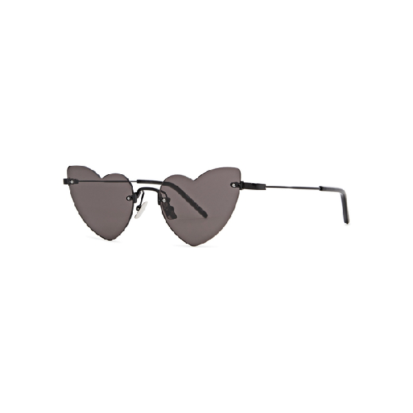 Saint Laurent Women's Lou Lou Rimless Heart Sunglasses, 50mm In Black