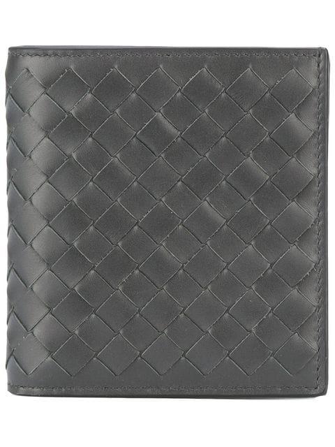 Bottega Veneta Interlaced Leather Bi-fold Wallet In Black