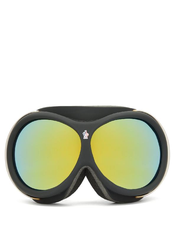 Moncler Logo-jacquard Strap Ski Goggles In Black