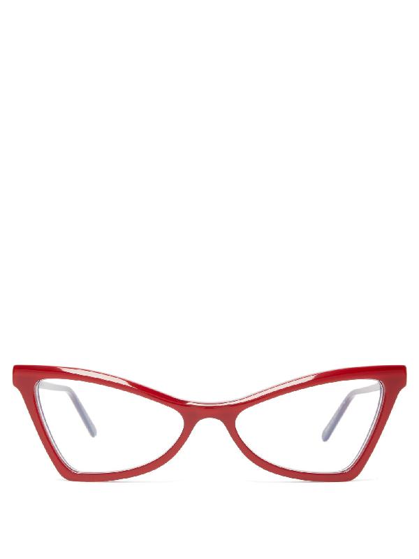 Marni Cat-eye Acetate Glasses In Red