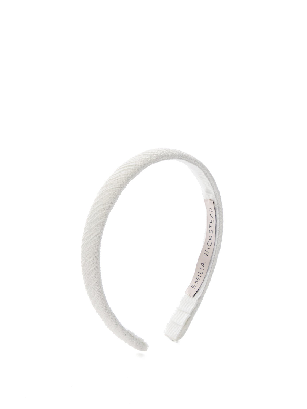 Emilia Wickstead Kensington Satin-cloquÉ Headband In White