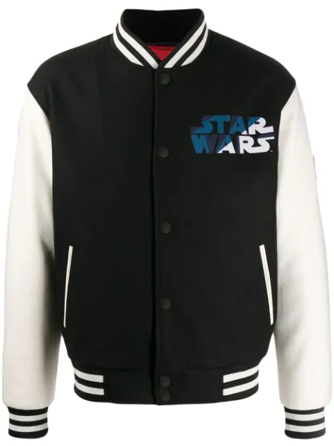 Etro X Star Wars Bomber Jacket In Black And White