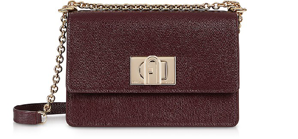 Furla 1927 Mini Crossbody Bag 20 In Burgundy