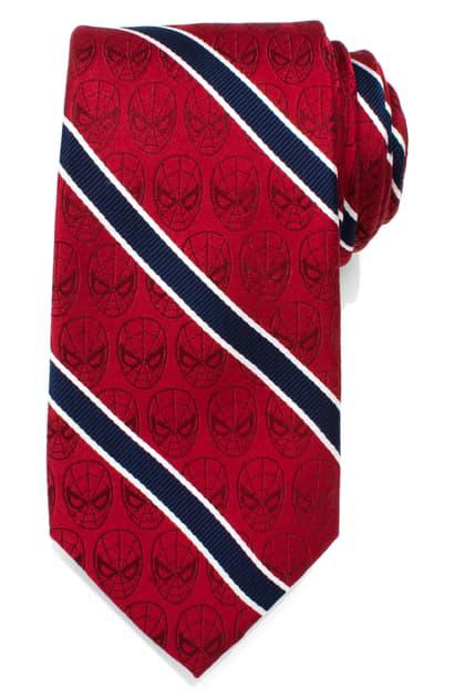 Cufflinks, Inc Spiderman Stripe Silk Tie In Red