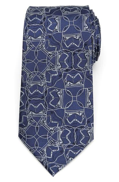 Cufflinks, Inc Stormtrooper Silk Tie In Blue