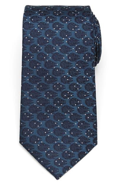 Cufflinks, Inc Millennium Falcon Dot Silk Tie In Blue