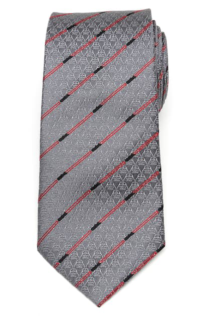 Cufflinks, Inc Darth Vader Lightsaber Silk Tie In Gray