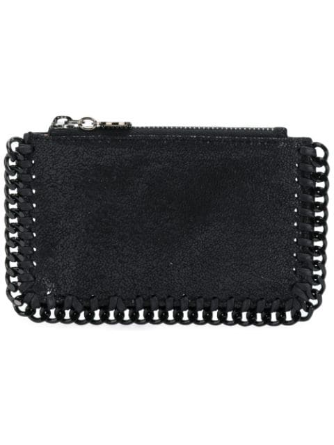 Stella Mccartney Falabella Shaggy Deer Card Case In 1000 Black