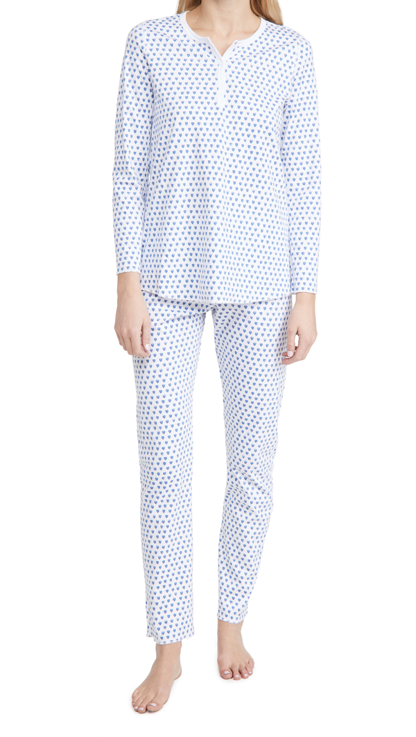 Roller Rabbit Women's Hearts 2-piece Pajama Set In Blue