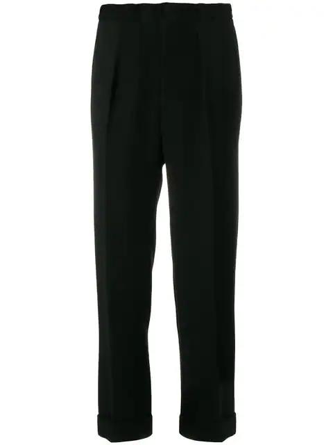 Roland Mouret Horley Slim-leg Wool-crepe Trousers In Black
