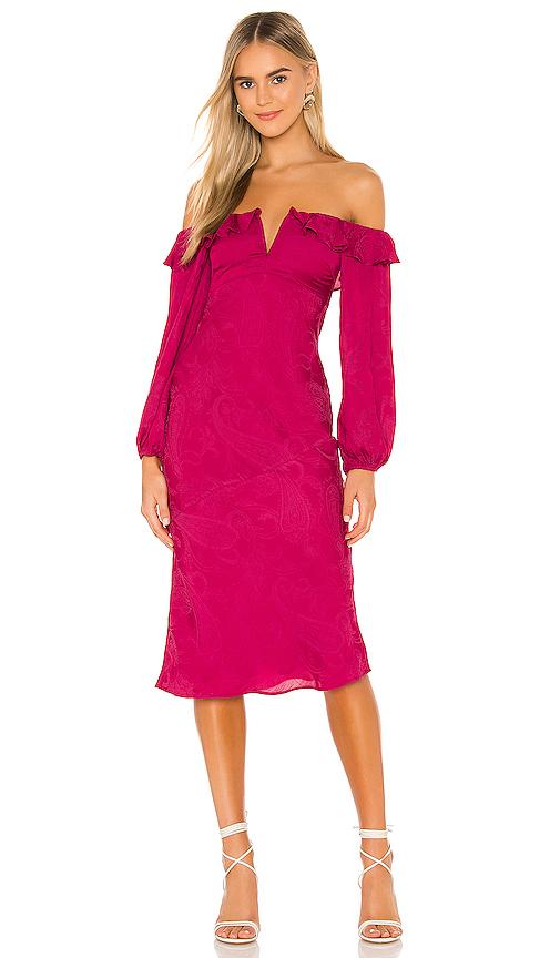 Tularosa Shania Dress In Fuchsia